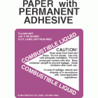 Combustible 3 Paper Labels