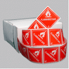 Flammable Gas Class 2.1 Mini Flag Marking for Bill of Lading and Shipping Documents