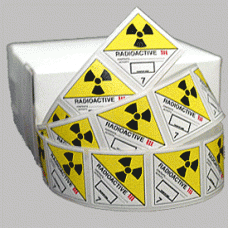 Radioactive III Class 7 Mini Flag Marking for Bill of Lading and Shipping Documents