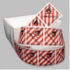 Flammable Solid Class 4.1 Mini Flag Marking for Bill of Lading and Shipping Documents
