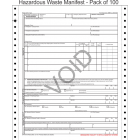 Hazardous Waste Manifest 5-Part Continuous Computer Feed Form C5HW-100