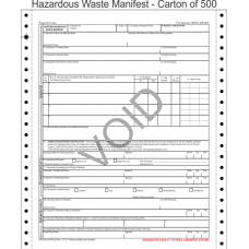 Hazardous Waste Manifest 5-Part Continuous Computer Feed Form C5HW