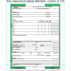 Non-Hazardous Waste Manifest 6-Part Continuous Computer Feed Form C6NHW-100