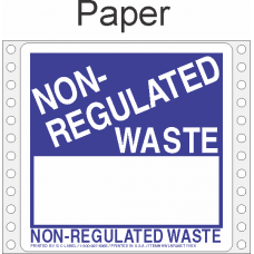 Non Regulated Material Paper Labels HWL266P