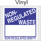 Non Regulated Material Vinyl Labels HWL266V