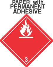 Flammable Class 3 Paper International Wordless Labels