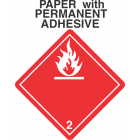 Flammable Gas Class 2.1 Paper International Wordless Labels