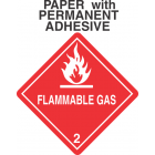 Flammable Gas Class 2.1 Paper Labels