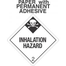 Inhalation Hazard Class 2.3 Paper Labels