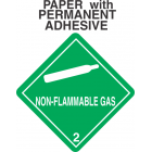 Non-Flammable Gas Class 2.2 Paper Labels