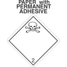Toxic Gas Class 2.3 Paper International Wordless Labels