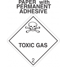 Toxic Gas Class 2.3 Paper Labels