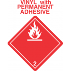 Flammable Gas Class 2.1 Vinyl International Wordless Labels