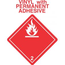 Flammable Gas Class 2.1 Vinyl International Wordless Labels