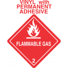 Flammable Gas Class 2.1 Vinyl Labels