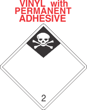 Inhalation Hazard Class 2.3 Vinyl International Wordless Labels
