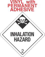 Inhalation Hazard Class 2.3 Vinyl Labels