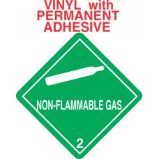 Non-Flammable Gas Class 2.2 Vinyl Labels