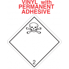 Toxic Gas Class 2.3 Vinyl International Wordless Labels
