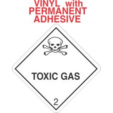 Toxic Gas Class 2.3 Vinyl Labels