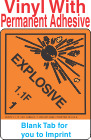 (Blank) Explosive Class 1.1F Proper Shipping Name Vinyl Labels
