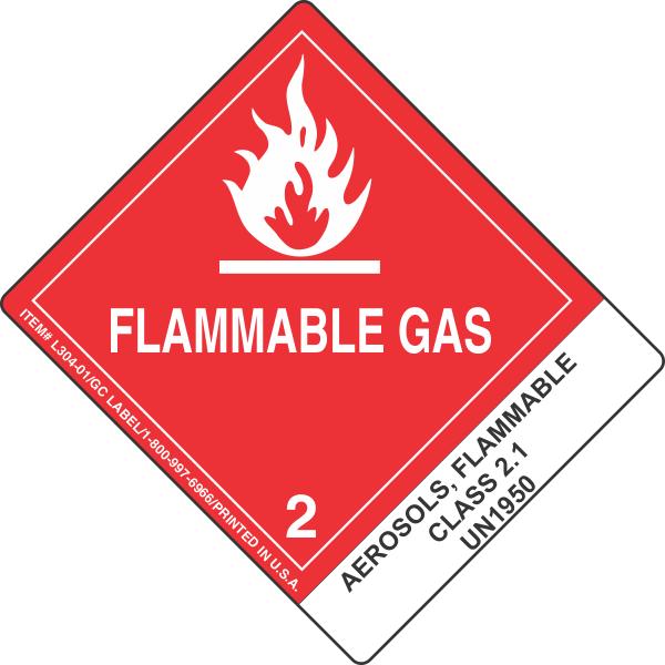 Aerosols Flammable Class 2 1 Un1950