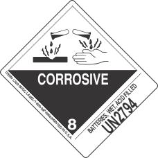 Batteries, Wet, Acid Filled UN2794