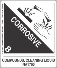 Compounds, Cleaning Liquid UN1760