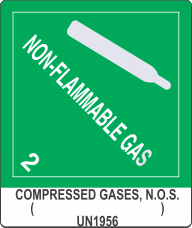 Compressed Gases, N.O.S. ( ) UN1956