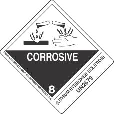 (Lithium Hydroxide Solution) UN2679