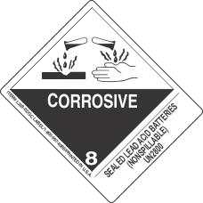 Sealed Lead Acid Batteries (Nonspillable) UN2800