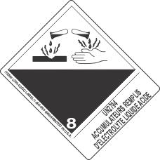 UN2794 Accumulateurs Remplis D'Electrolyte Liquide Acide