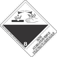 UN2795 Accumulateurs Remplis D'Electrolyte Liquide Alcalin