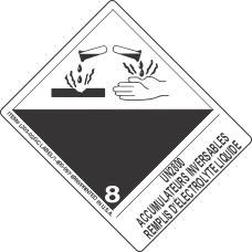 UN2800 Accumulateurs Inversables Remplis D'Electrolyte Liquide