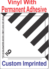Miscellaneous Dangerous Goods Class 9 Custom Imprinted Shipping Name Vinyl Labels