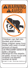Baby In A Bucket Label
