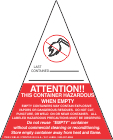 Container Hazardous When Empty Label