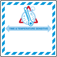 IATA Time and Temperature Label
