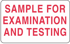 Sample for Examination Label