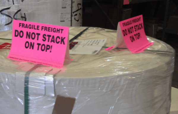 skid and pallet protection tent labels