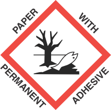 1 inch x 1 inch GHS Environmental Hazard Paper Label