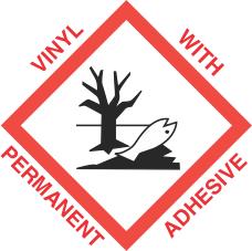 1 inch x 1 inch GHS Environmental Hazard Vinyl Label