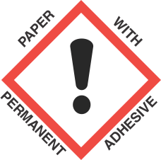 1 inch x 1 inch GHS Exclamation Mark Paper Label