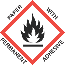 1 inch x 1 inch GHS Flame Paper Label