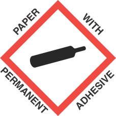 1 inch x 1 inch GHS Gas Cylinder Paper Label
