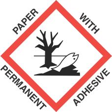 4 inch x 4 inch GHS Environmental Hazard Paper Label