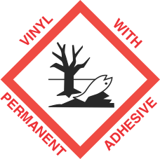 4 inch x 4 inch GHS Environmental Hazard Vinyl Label