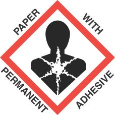 4 inch x 4 inch GHS Health Hazard Paper Label
