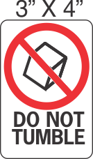 Pictorial Do Not Tumble Label 3in x 4in