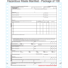 Hazardous Waste Manifest 6-Part Continuous Computer Feed Form C6HW-100